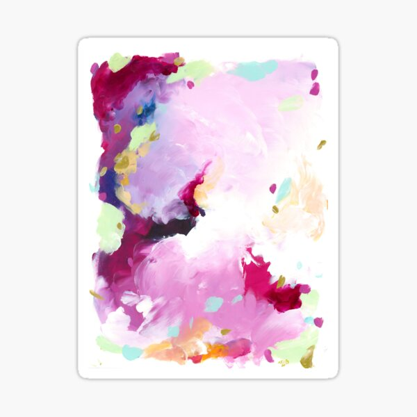 Leia - abstract acrylic painting Sticker