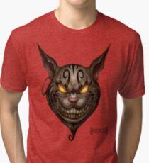 Evil Cheshire Cat Tri-blend T-Shirt