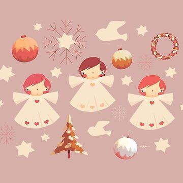Vintage Christmas Angels by karin