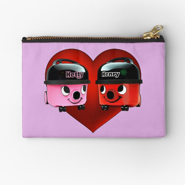 Henry and Hetty Hoover Love Heart Zipper Pouch