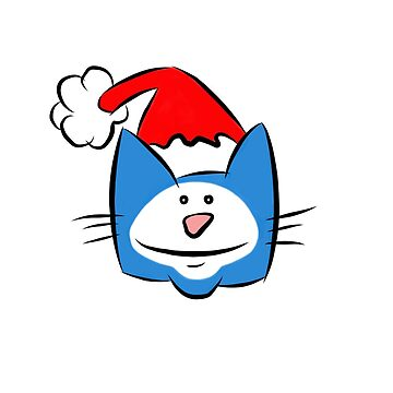 Christmas Cat With Santa Hat by madra
