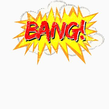 Super Hero Comic Book Onomatopoeia. BANG! by goldwingstees