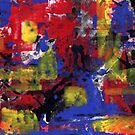 ABSTRACTION IN RED AND BLUE(C1998) by Paul Romanowski