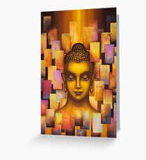Buddha. Rainbow body Greeting Card