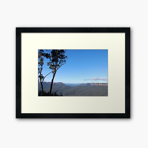 Blue Mountains Framed Art Print