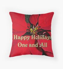 Happy Holidays One and All Throw Pillow