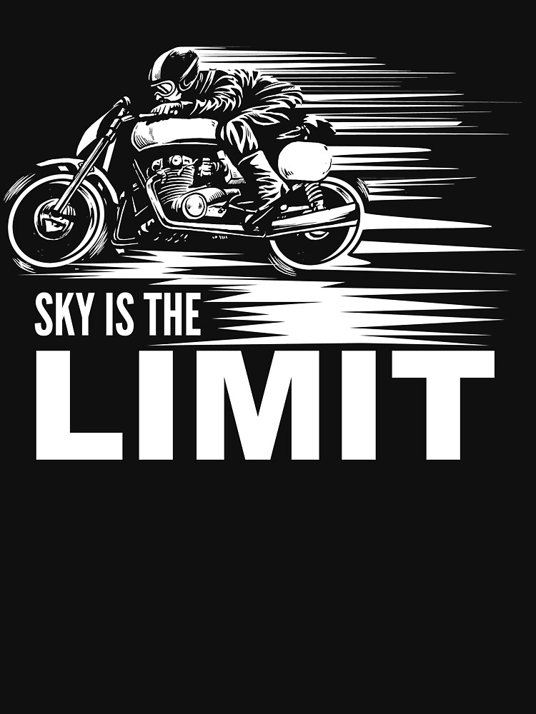 Sky is the Limit - Vintage Motorcycle Racing Machine by NiceTeee