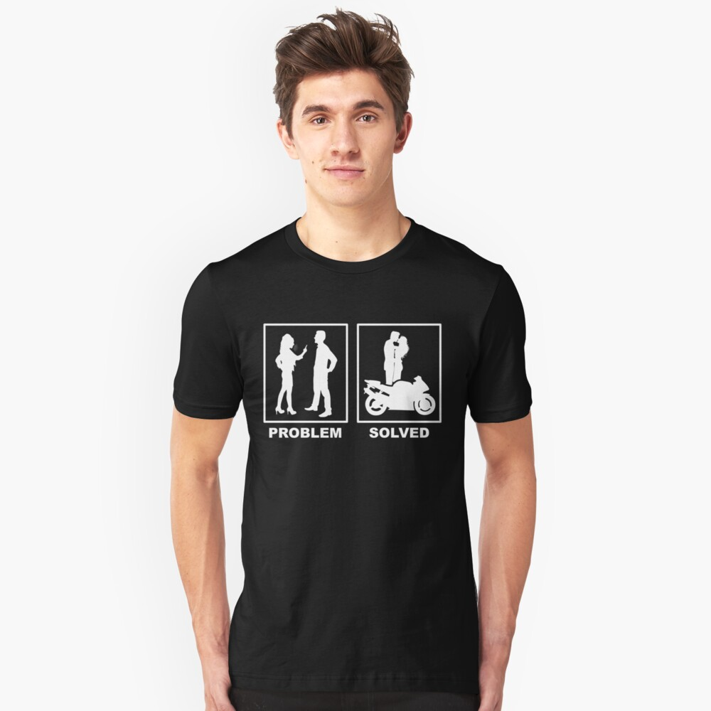 Motorcycle, relationship, love, couple, gift idea Unisex T-Shirt Front