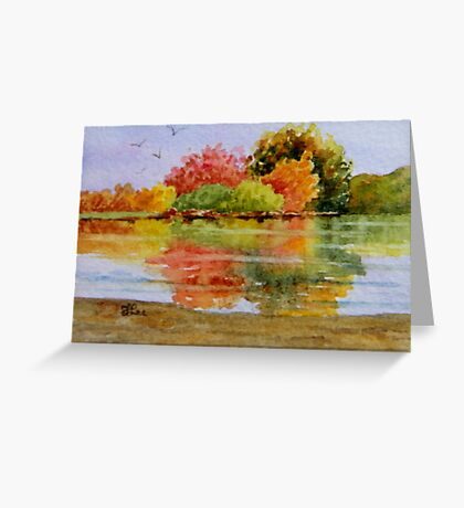 Miniature Series - Autumn Reflections Greeting Card