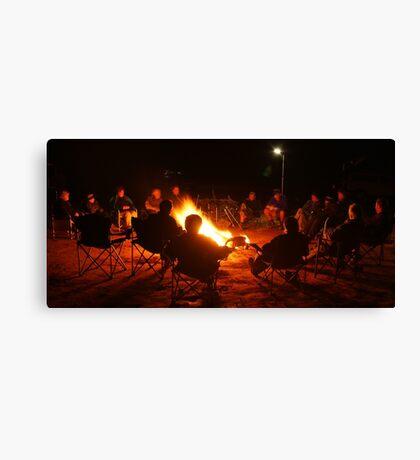 Camp Fire,Australian Outback Canvas Print