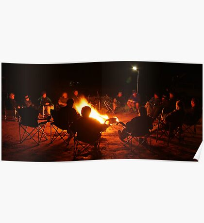 Camp Fire,Australian Outback Poster