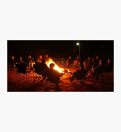 Camp Fire,Australian Outback Photographic Print