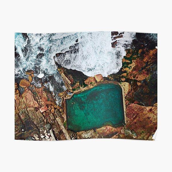 Mahon Saltwater Pool in Maroubra Sydney  Poster