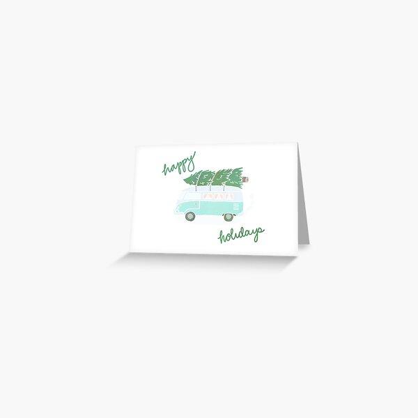 Festive Van Happy Holidays Greeting Card