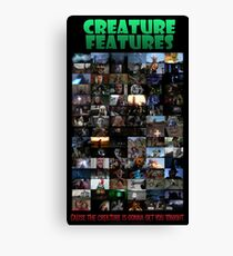 Creature Features Opening Theme Poster Canvas Print