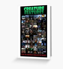 Creature Features Opening Theme Poster Greeting Card