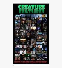 Creature Features Opening Theme Poster Photographic Print