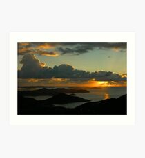 Sunrise From Bordeaux Mountain Art Print