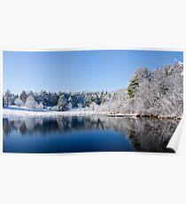 Winter Lake Scene Poster
