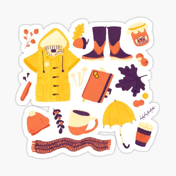 AUTUMN OBJECTS Sticker