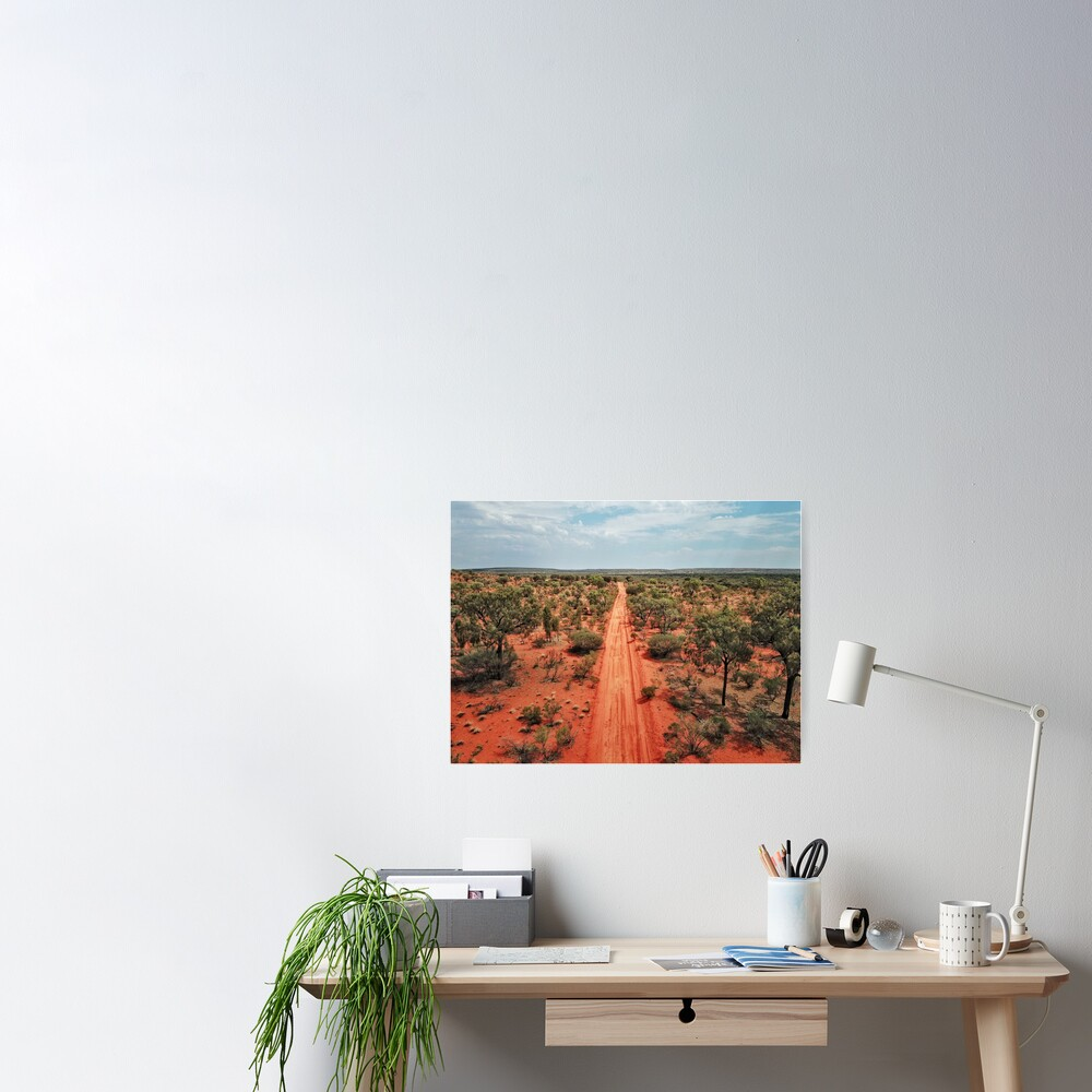 Red Centre Australian Outback | Aerial Print Poster