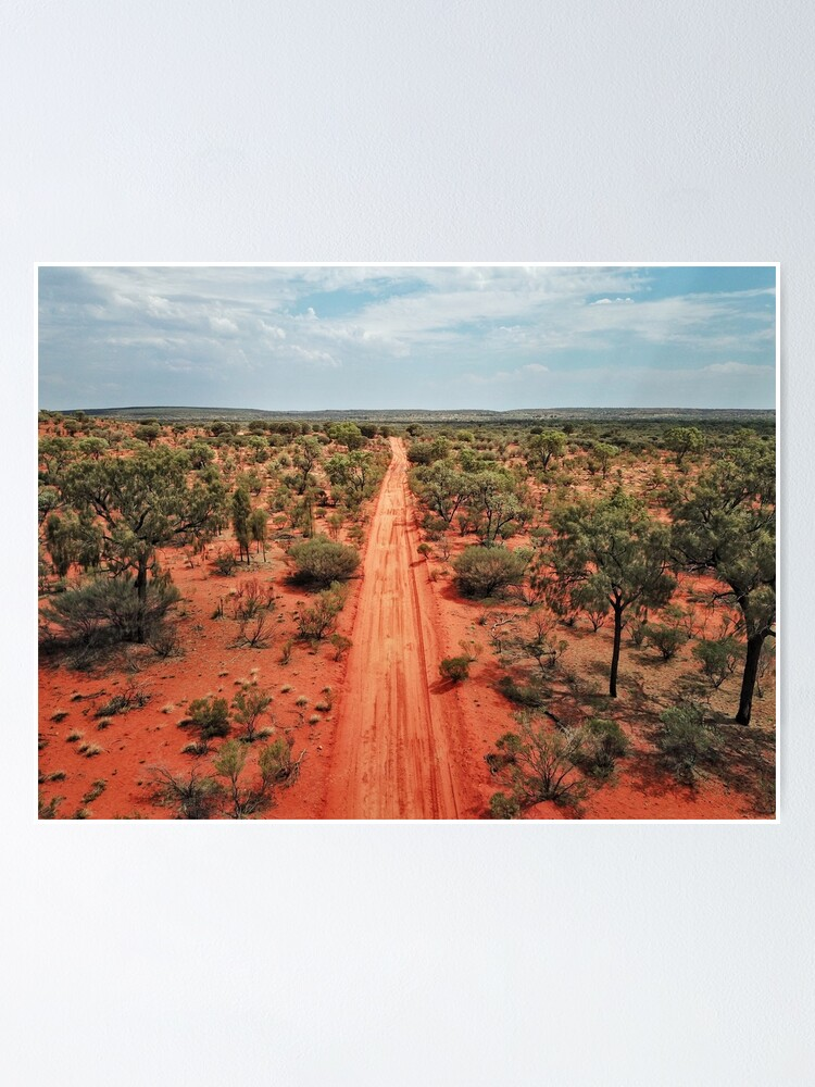 Alternate view of Red Centre Australian Outback | Aerial Print Poster