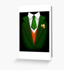 St. Patrick's Day Funny Suit and Tie Tuxedo Gift Greeting Card