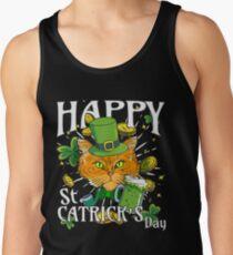 Happy St. Catricks Day Funny St. Patricks Cat Lover Tank Top
