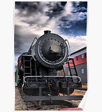 Locomotive in HDR Poster