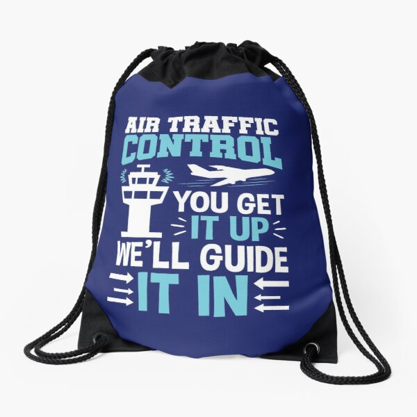 Air Traffic Controller Funny Quote Gifts Drawstring Bag