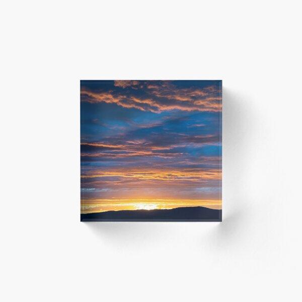 Gallatin Sunset Acrylic Block