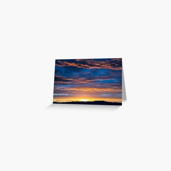 Gallatin Sunset Greeting Card