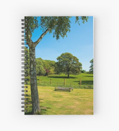 Woodleigh School grounds in July Spiral Notebook