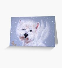 Winter Angel ( Westie) Greeting Card