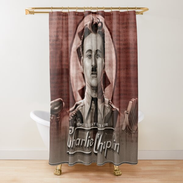 The Great Dictator - Charlie Chaplin Shower Curtain