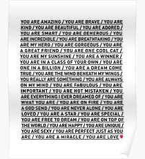 YOU ARE LOVE Poster