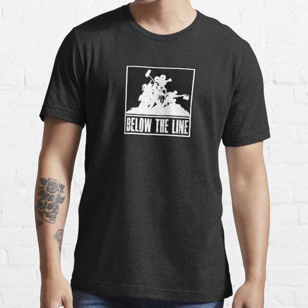 Below the Line Logo = White on Black Essential T-Shirt