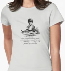 Virginia Woolf - A Room of One's Own - Lock Up Your Libraries Women's Fitted T-Shirt