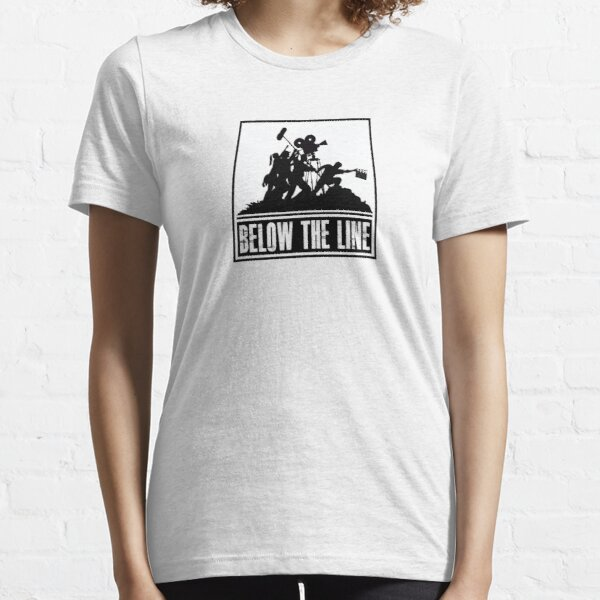 Below the Line Logo = Black on White Essential T-Shirt