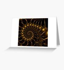 Golden Wire Spirals Greeting Card