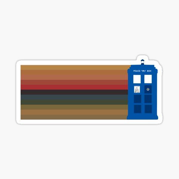 Tardis plus 13's stripes, horizontal Sticker