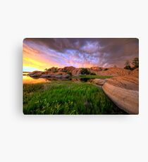 Willow Lake Round Rock Canvas Print