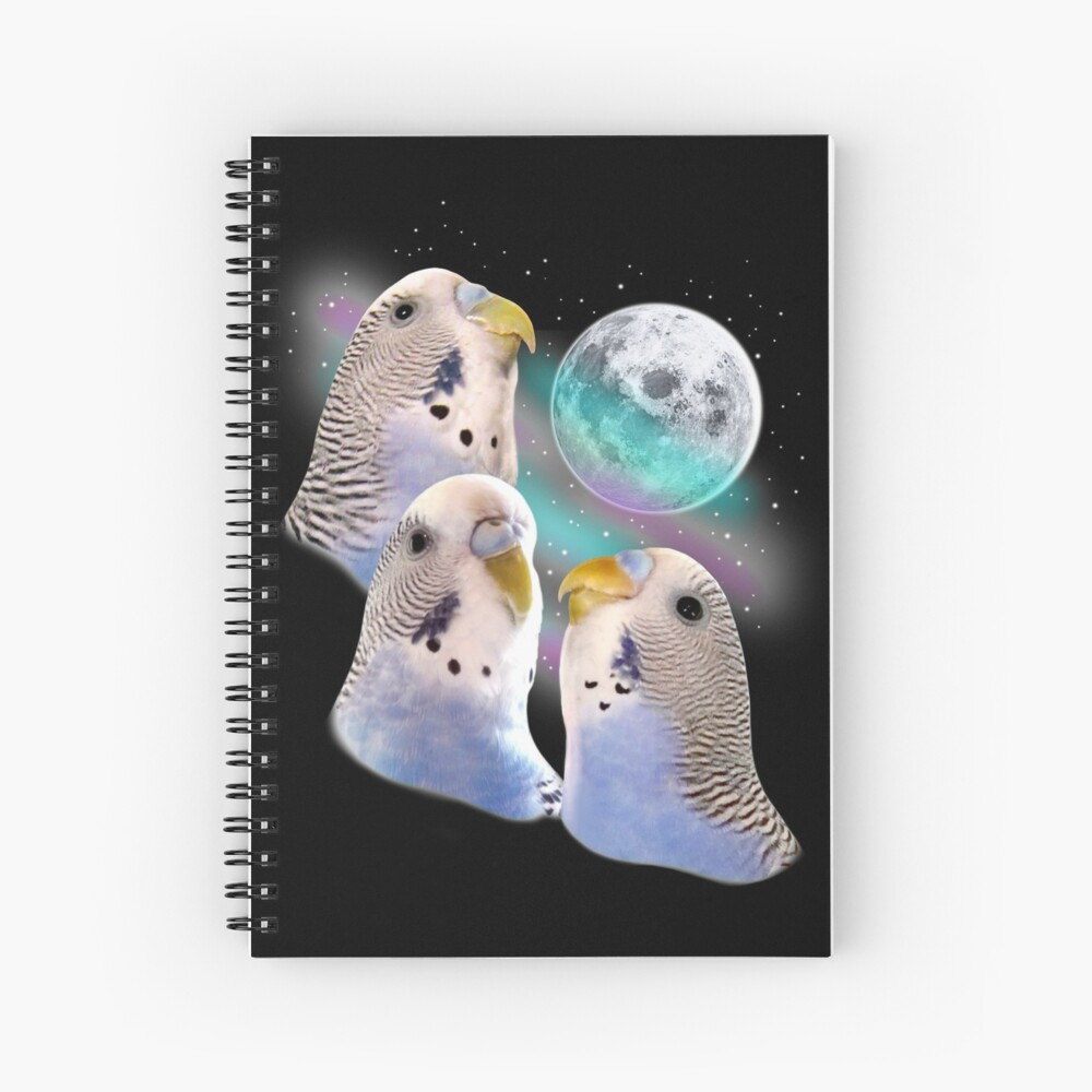 Three Keet Moon Spiral Notebook