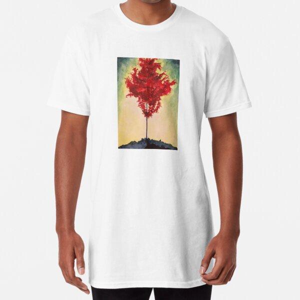 Crimson Moment Long T-Shirt