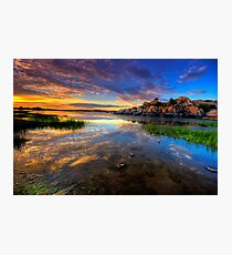 Willow Lake Spring Sunset Photographic Print