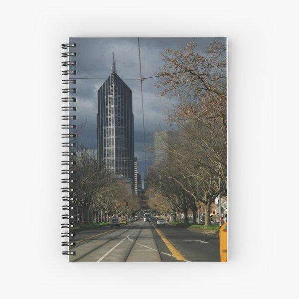 city winter. elizabeth st, melbourne Spiral Notebook