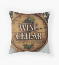 winery/grapes design  Throw Pillow