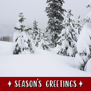 Winter Mountains and Forest Holiday Card by JaredManninen
