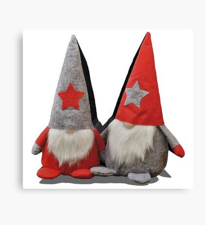 3D Christmas Gnomes Canvas Print