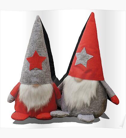 3D Christmas Gnomes Poster